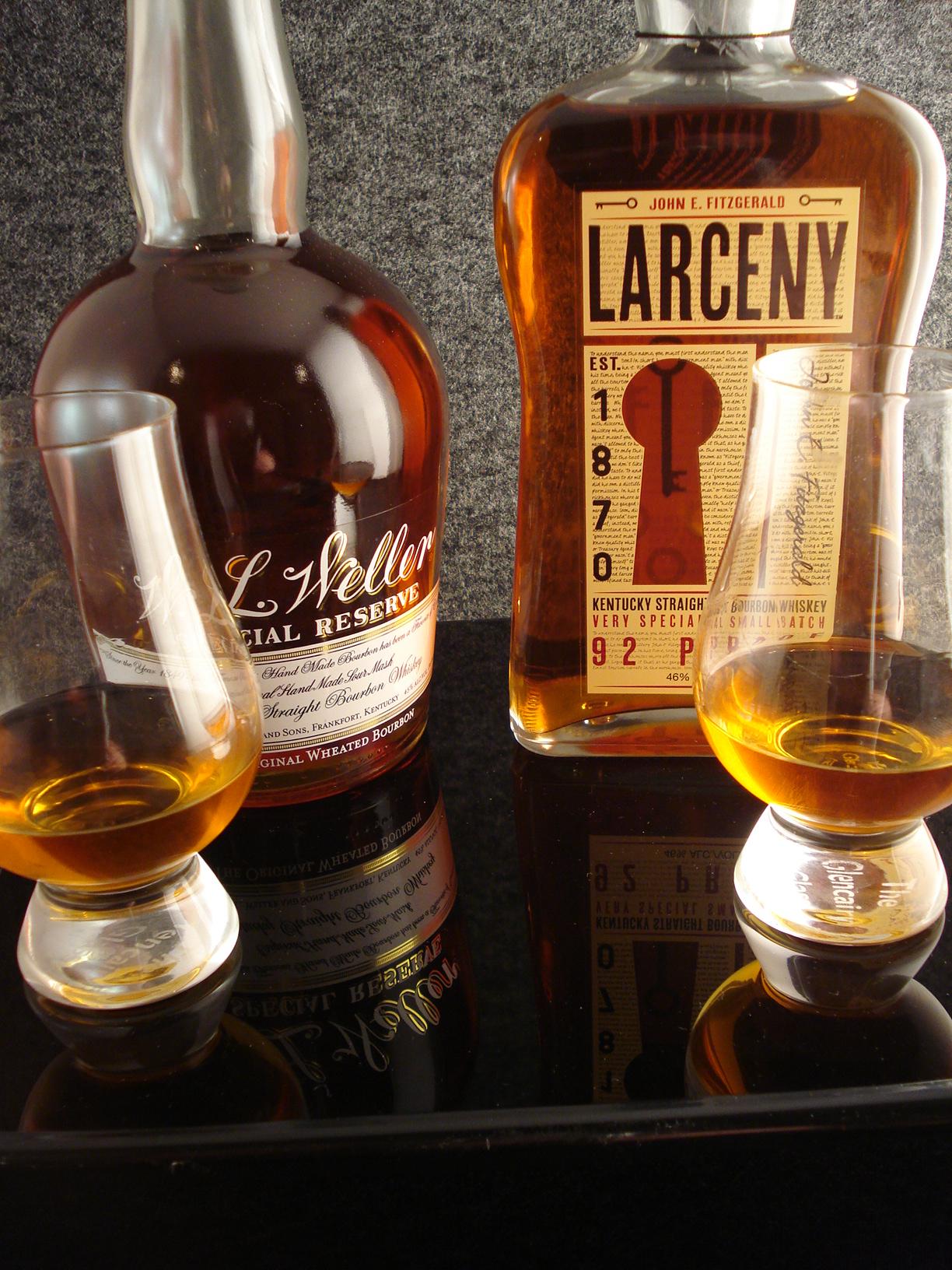 Wheated Bourbon Throw Down Larceny Vs W L Weller